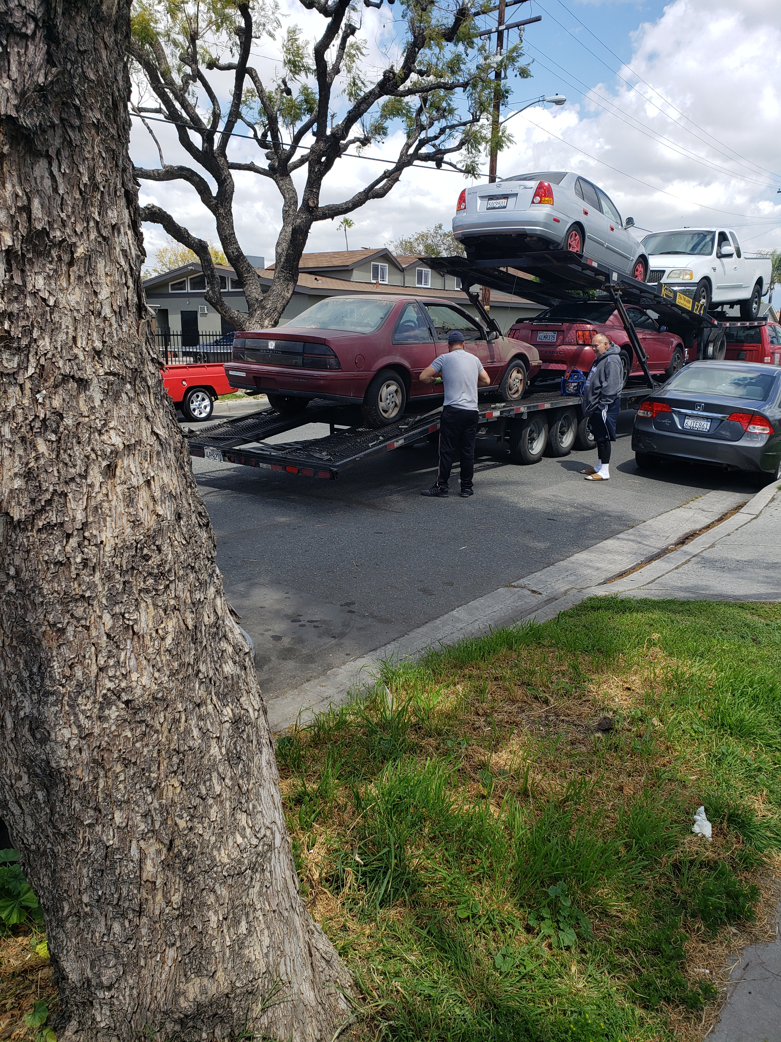 Joaquin getting Grace ready for towing