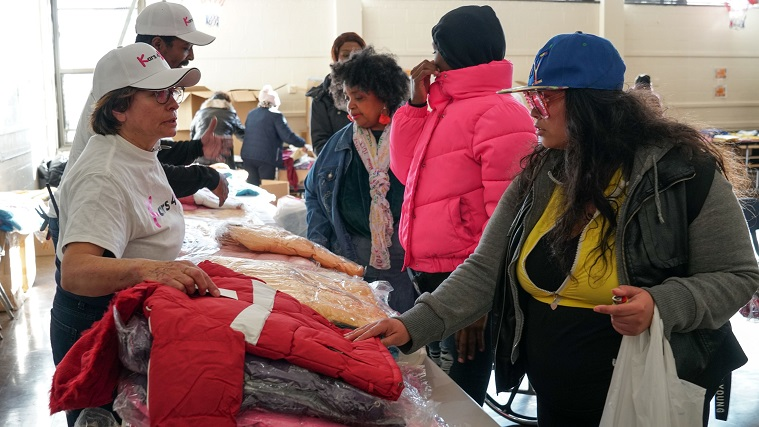The Child Center NY and The Child Center of NY and Kars4Kids winter wear distribution MLK Far Rockaway 2020