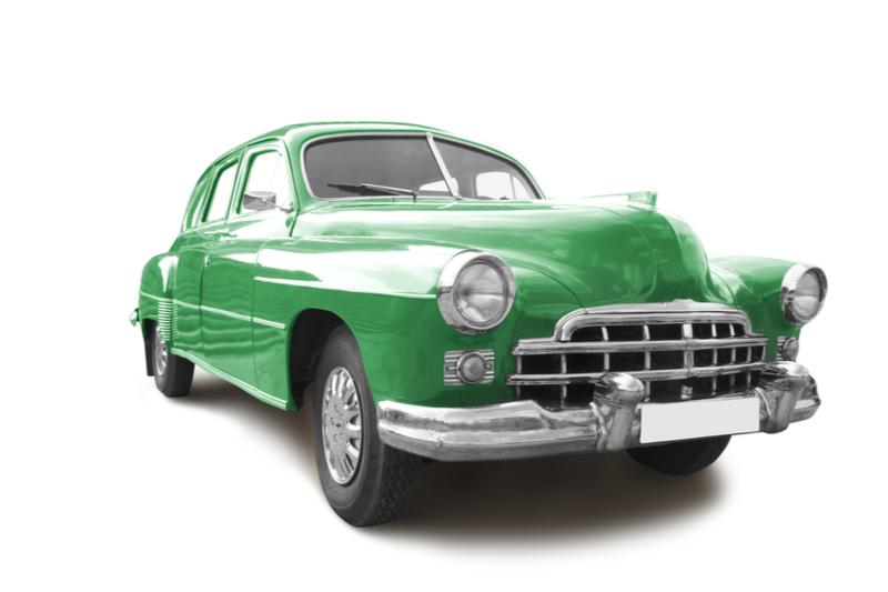 old green car