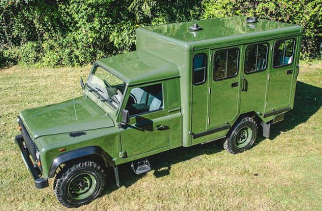 "Prince Philip's Land Rover Defender 130 ""gun bus"""