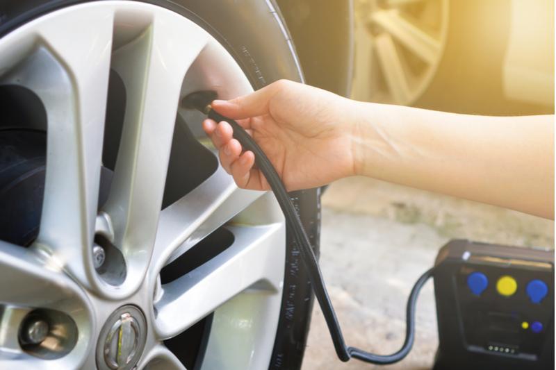 DIY digital rapid tire inflator