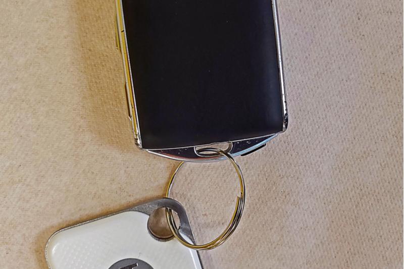 Tile mate tracker for keys phone