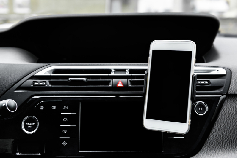 phone holder doodad for car