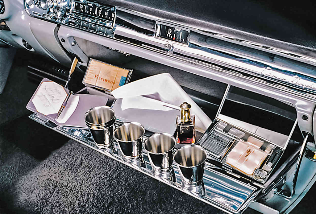 Magnetic minibar from series on car accessories through the years