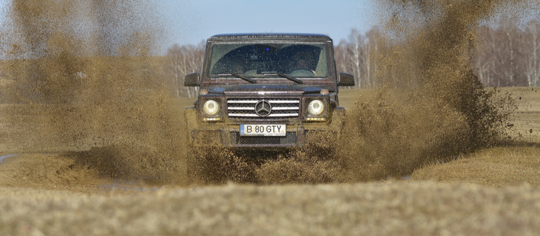 off-roading in action